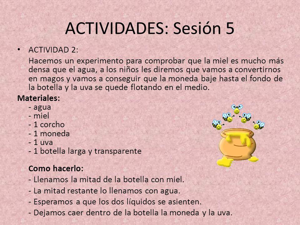ACTIVIDADES: Sesión 5 ACTIVIDAD 2: