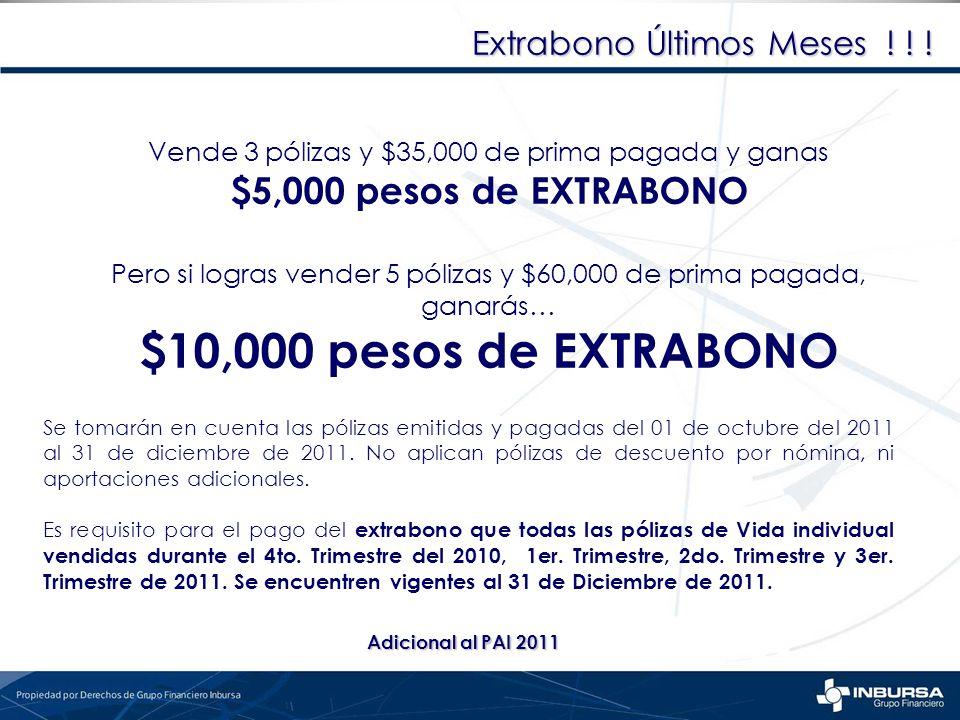 $10,000 pesos de EXTRABONO $5,000 pesos de EXTRABONO