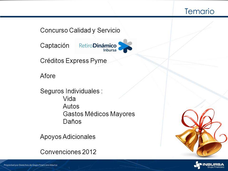 Temario Concurso Calidad y Servicio Captación Créditos Express Pyme
