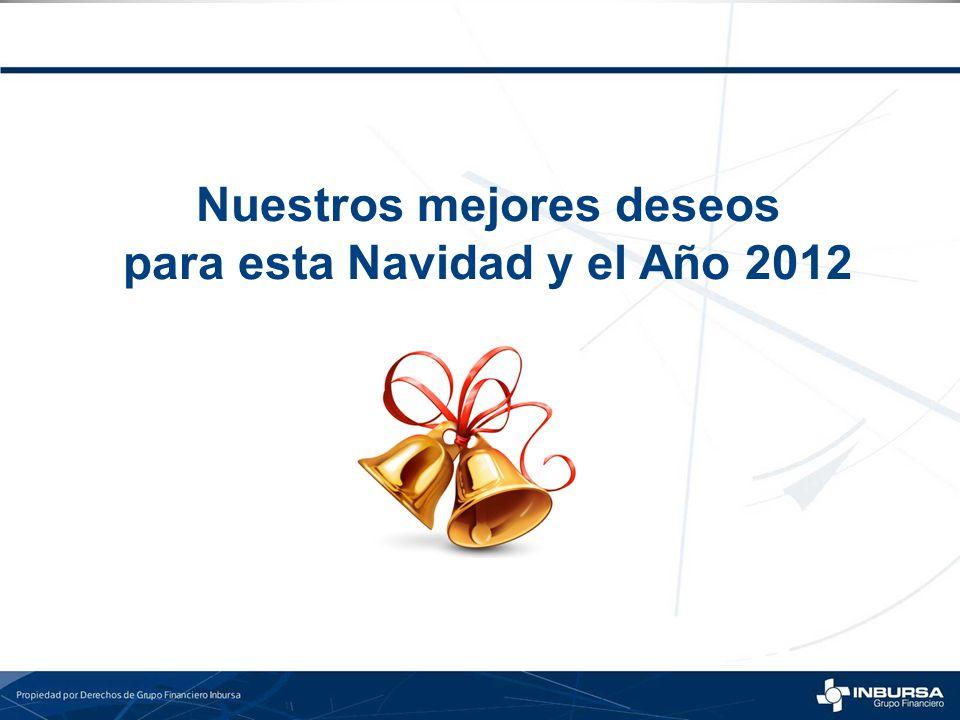 Nuestros mejores deseos para esta Navidad y el Año 2012