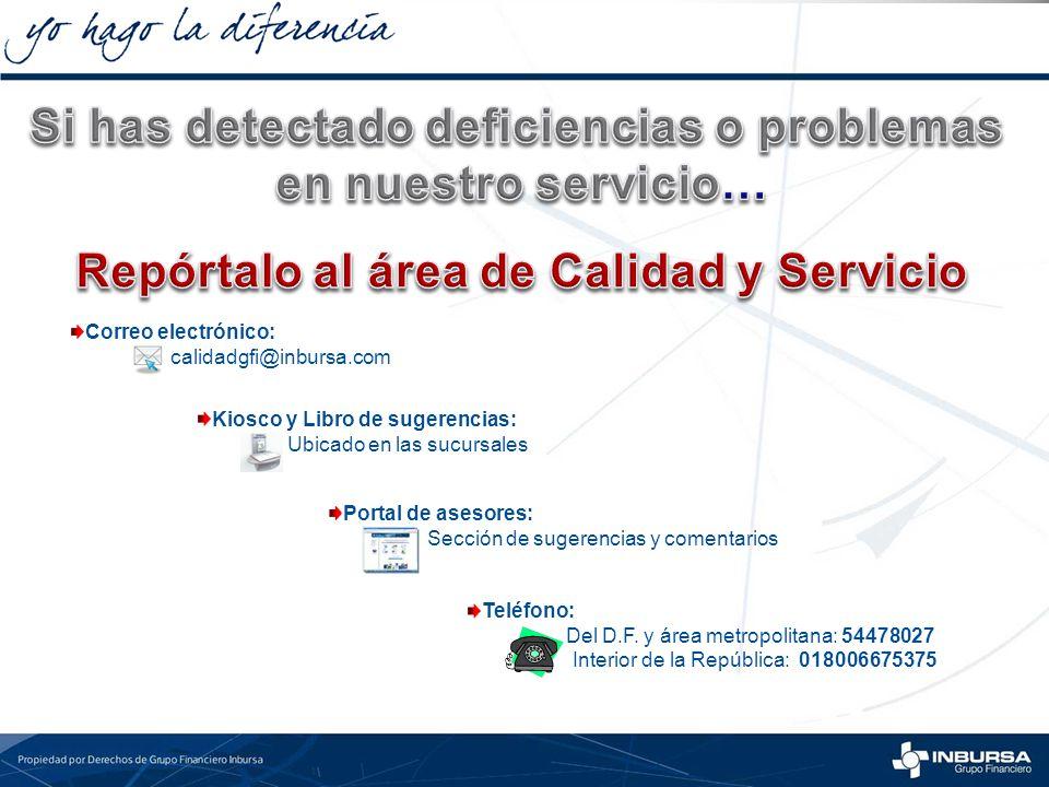 Si has detectado deficiencias o problemas en nuestro servicio…