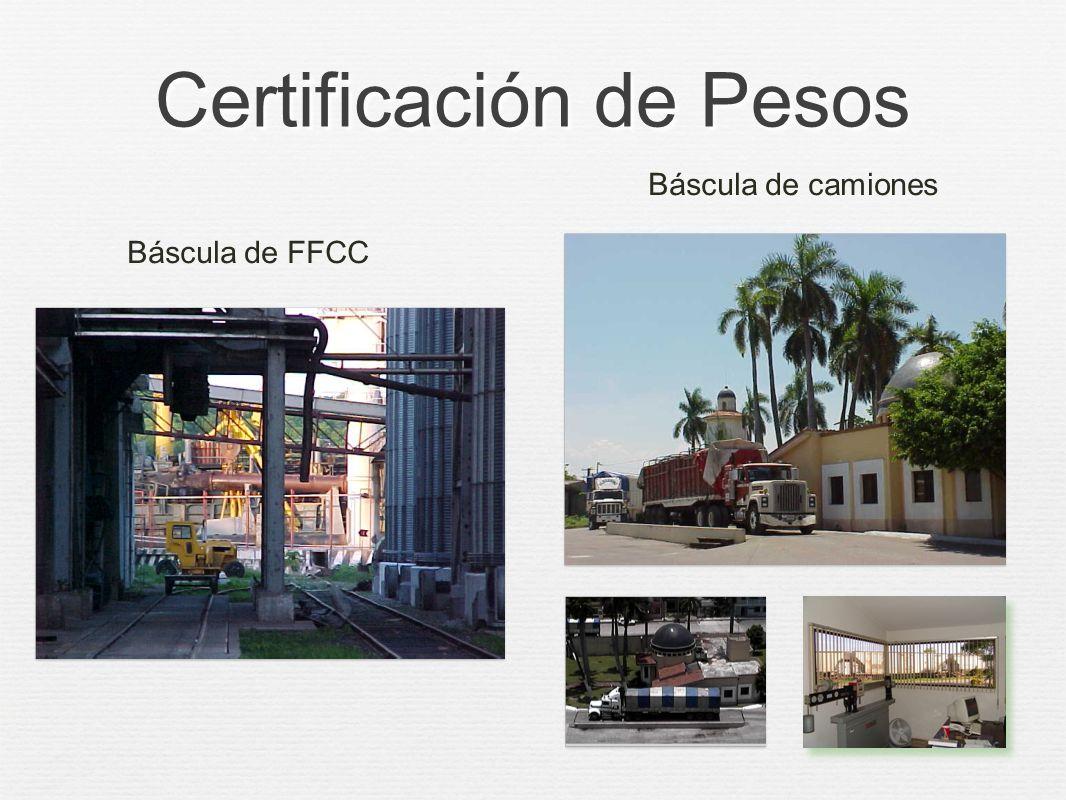 Certificación de Pesos