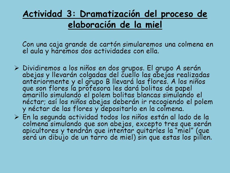 Actividad 3: Dramatización del proceso de elaboración de la miel