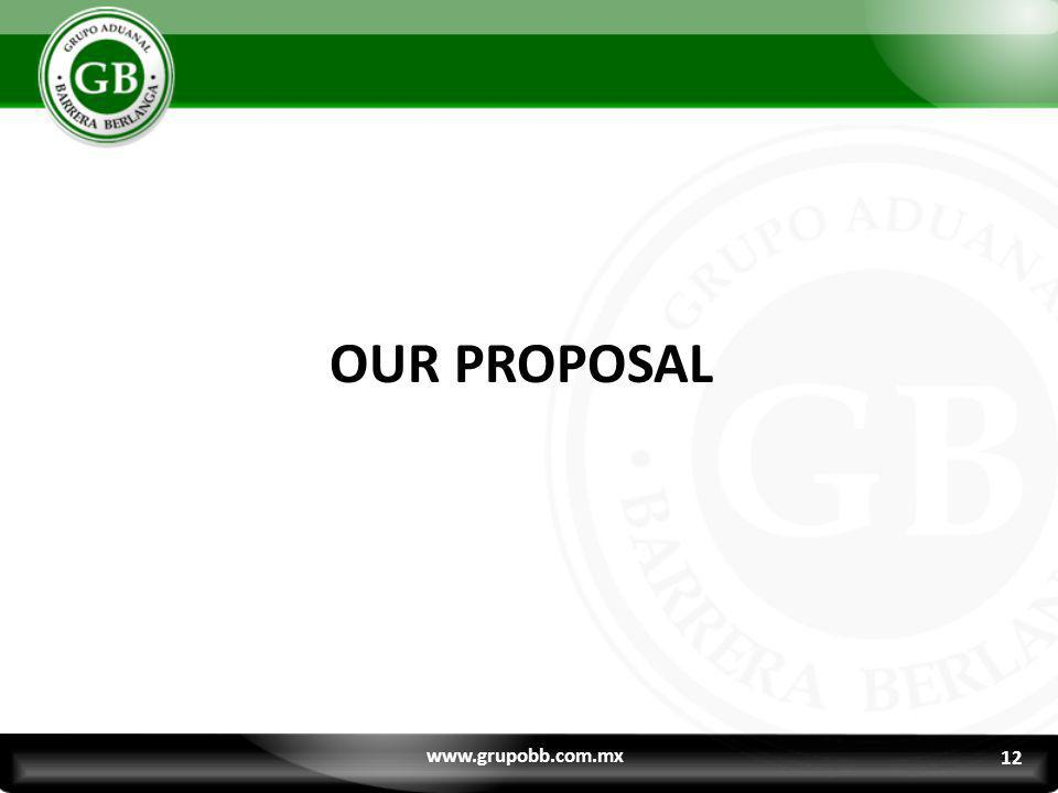 OUR PROPOSAL www.grupobb.com.mx 12 12