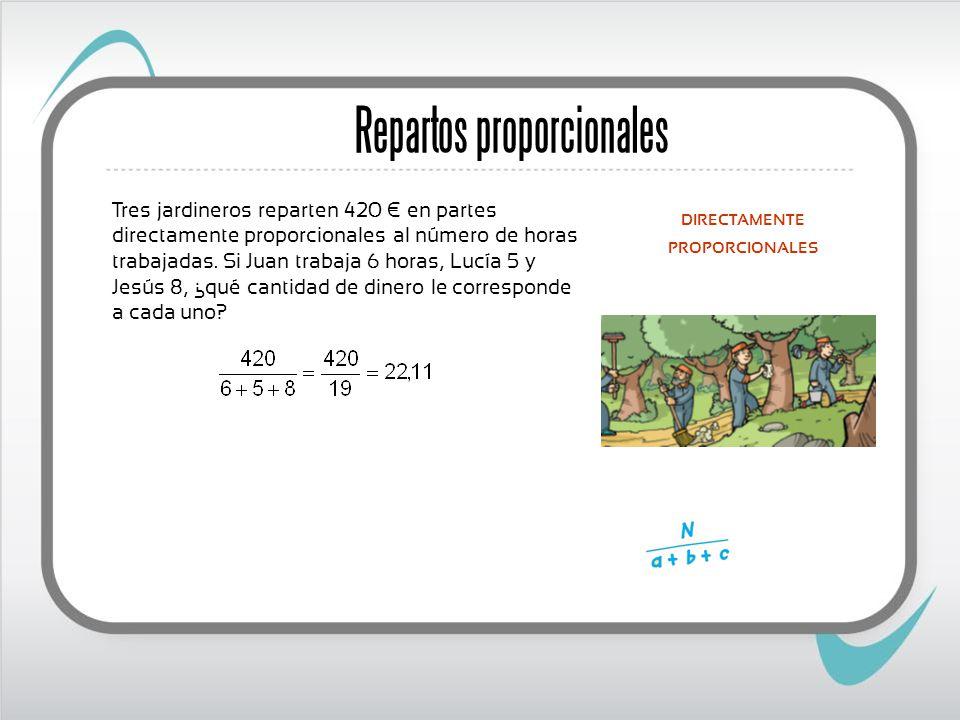 Repartos proporcionales