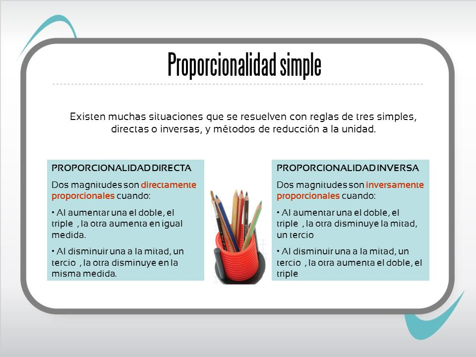 Proporcionalidad simple
