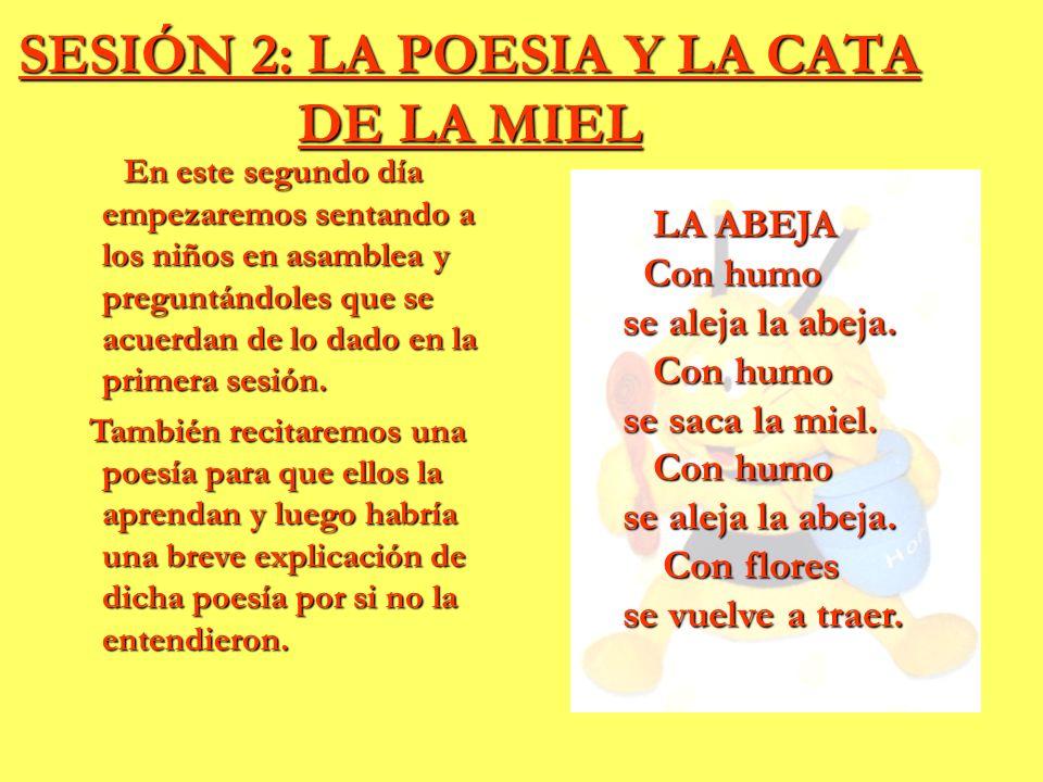 SESIÓN 2: LA POESIA Y LA CATA DE LA MIEL