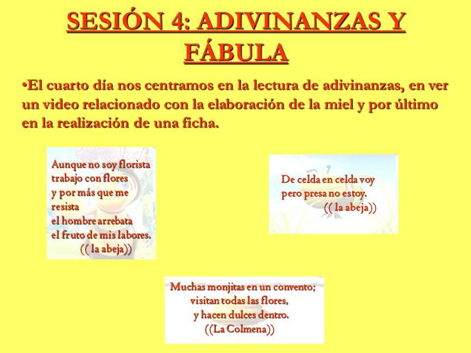 SESIÓN 4: ADIVINANZAS Y FÁBULA