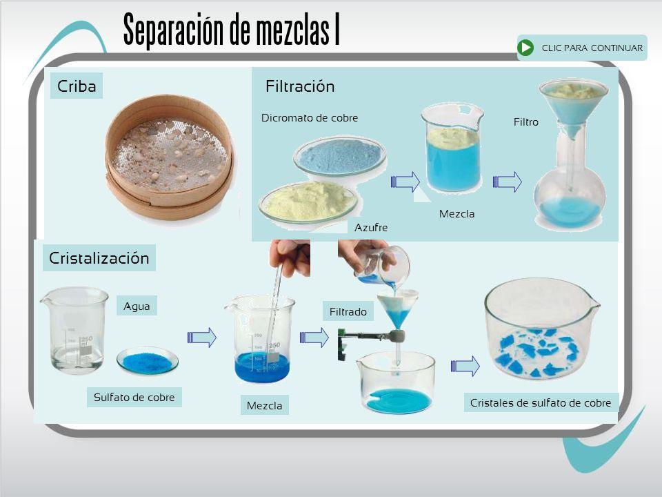 Separación de mezclas I