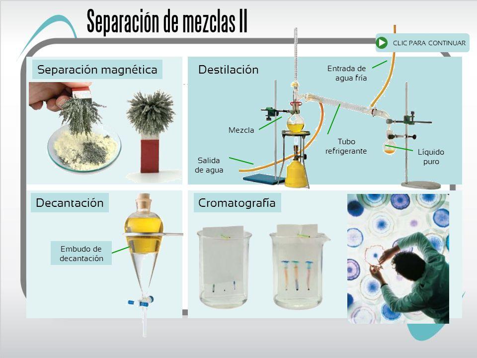 Separación de mezclas II