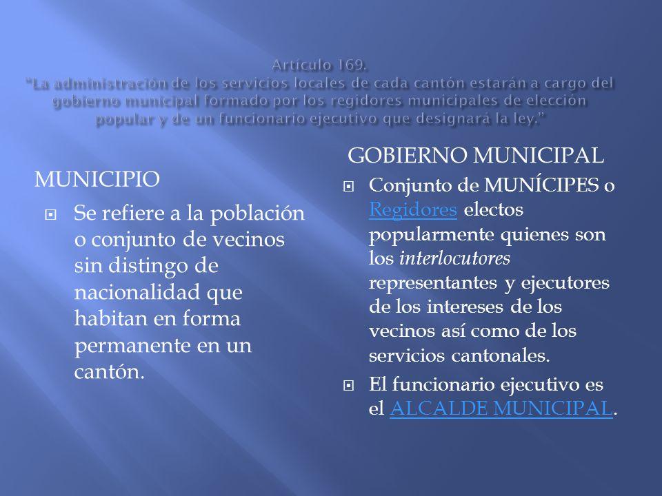 GOBIERNO MUNICIPAL MUNICIPIO