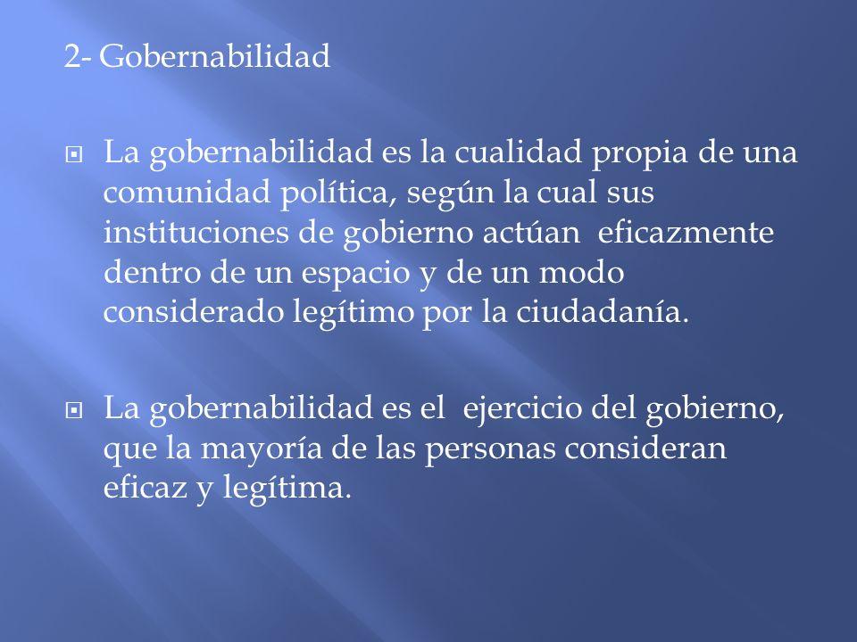 2- Gobernabilidad