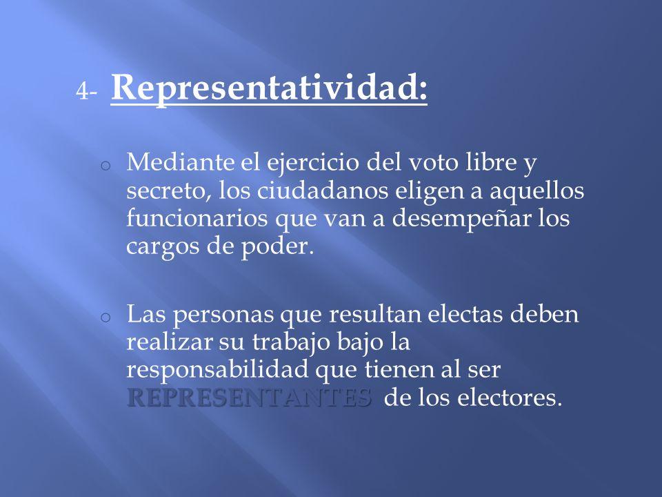 4- Representatividad: