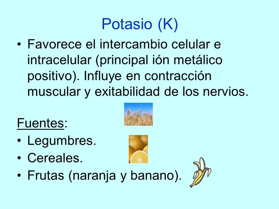 Potasio (K)