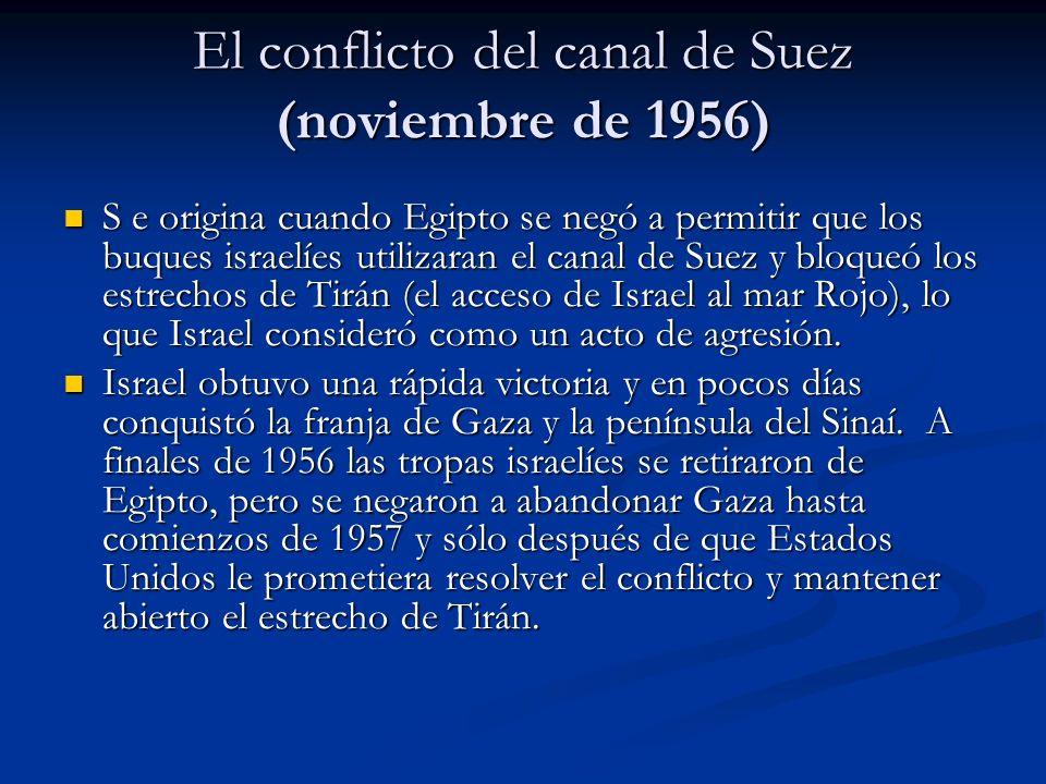 El conflicto del canal de Suez (noviembre de 1956)