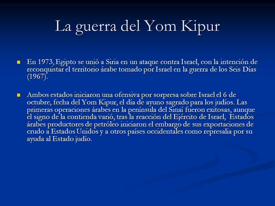 La guerra del Yom Kipur