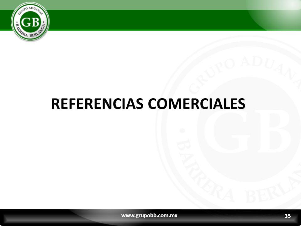 REFERENCIAS COMERCIALES
