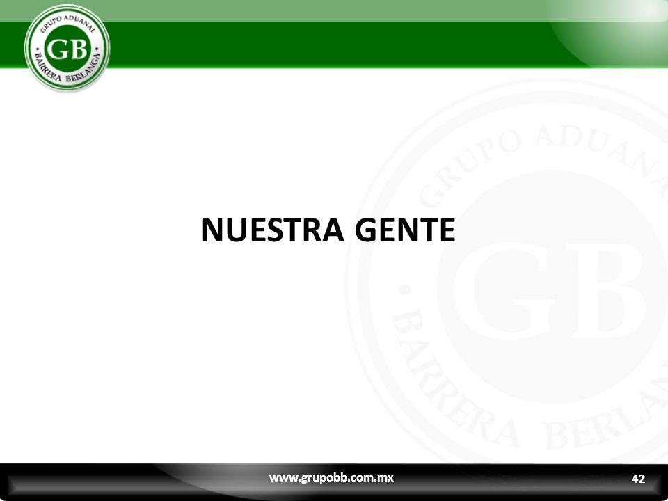 NUESTRA GENTE www.grupobb.com.mx 42