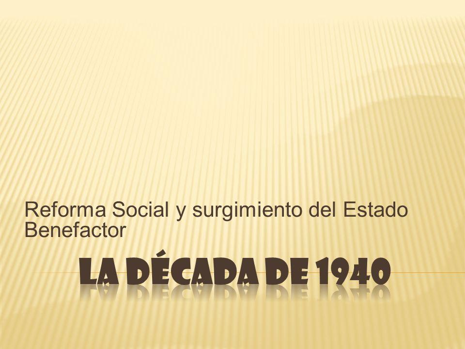 Reforma Social y surgimiento del Estado Benefactor