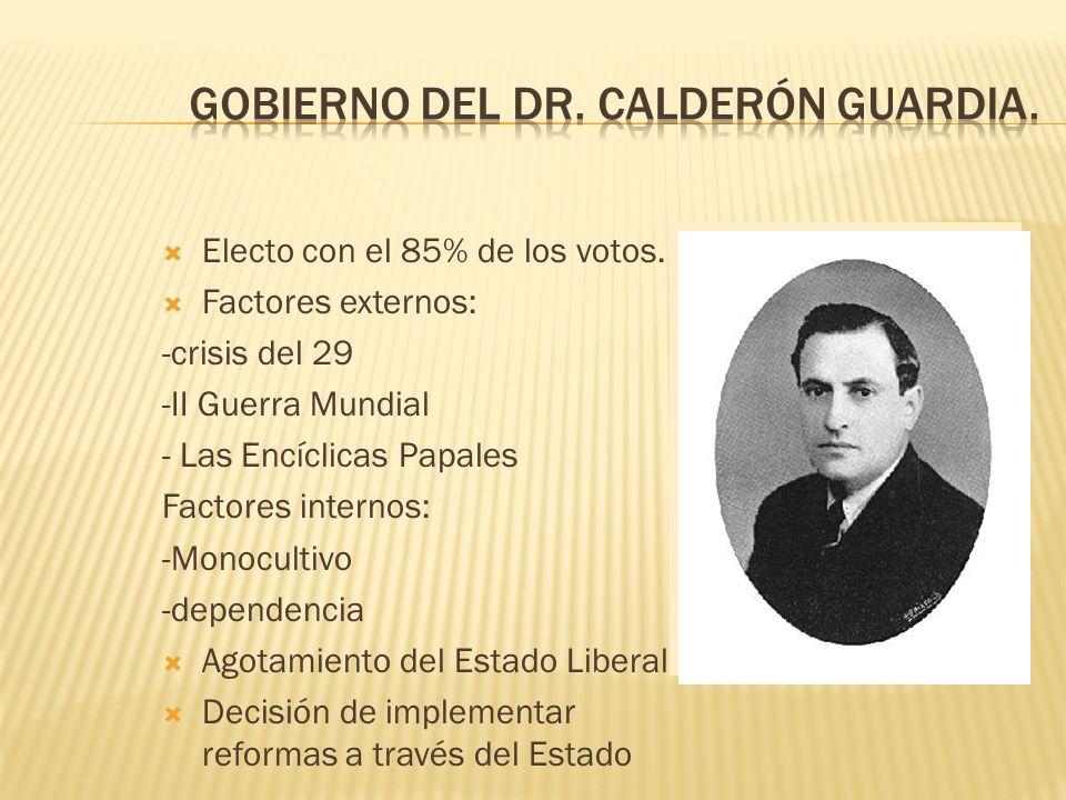 Gobierno del Dr. Calderón Guardia.
