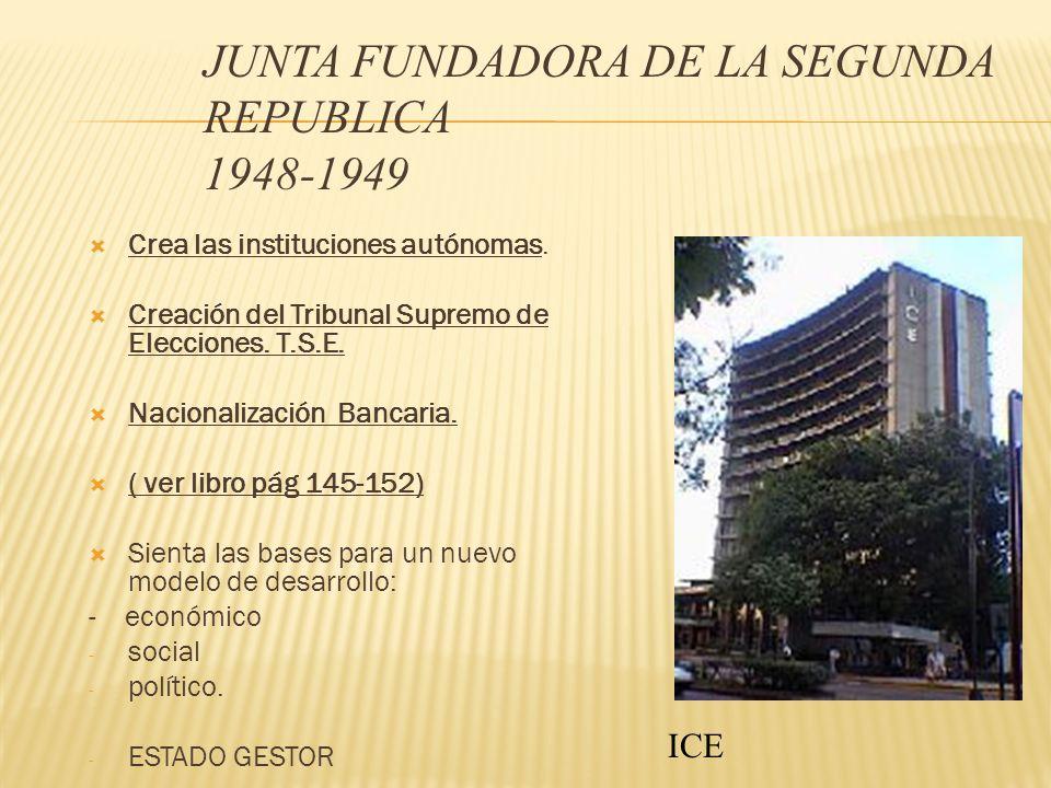 JUNTA FUNDADORA DE LA SEGUNDA REPUBLICA 1948-1949