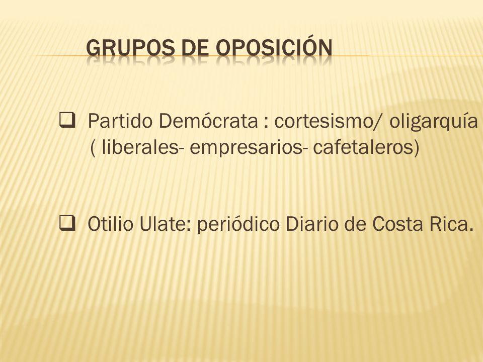 Grupos de Oposición Partido Demócrata : cortesismo/ oligarquía