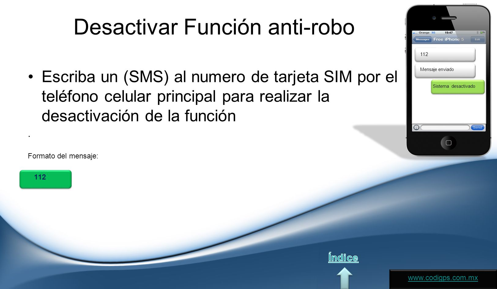 Desactivar Función anti-robo