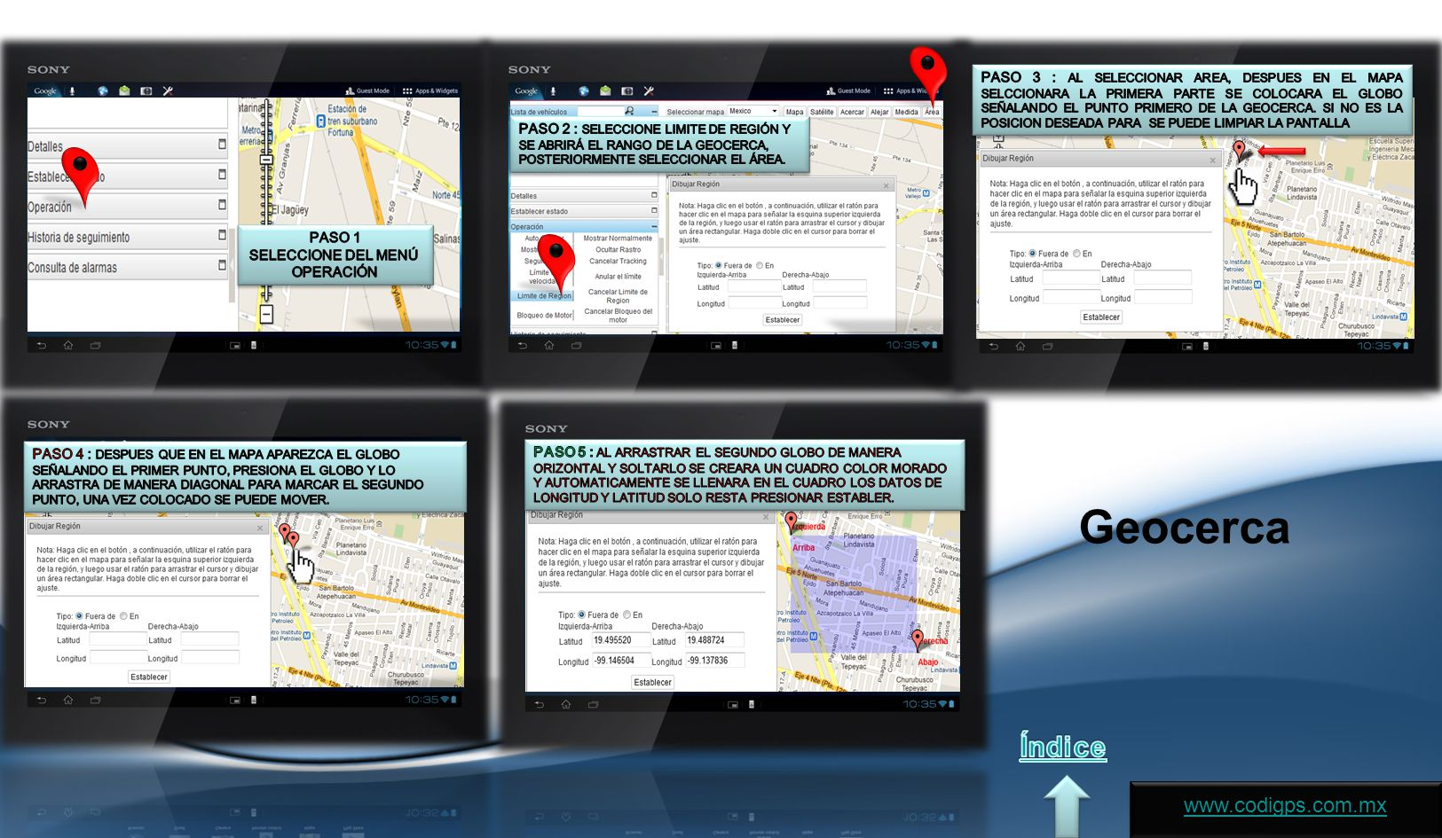 Geocerca Índice www.codigps.com.mx