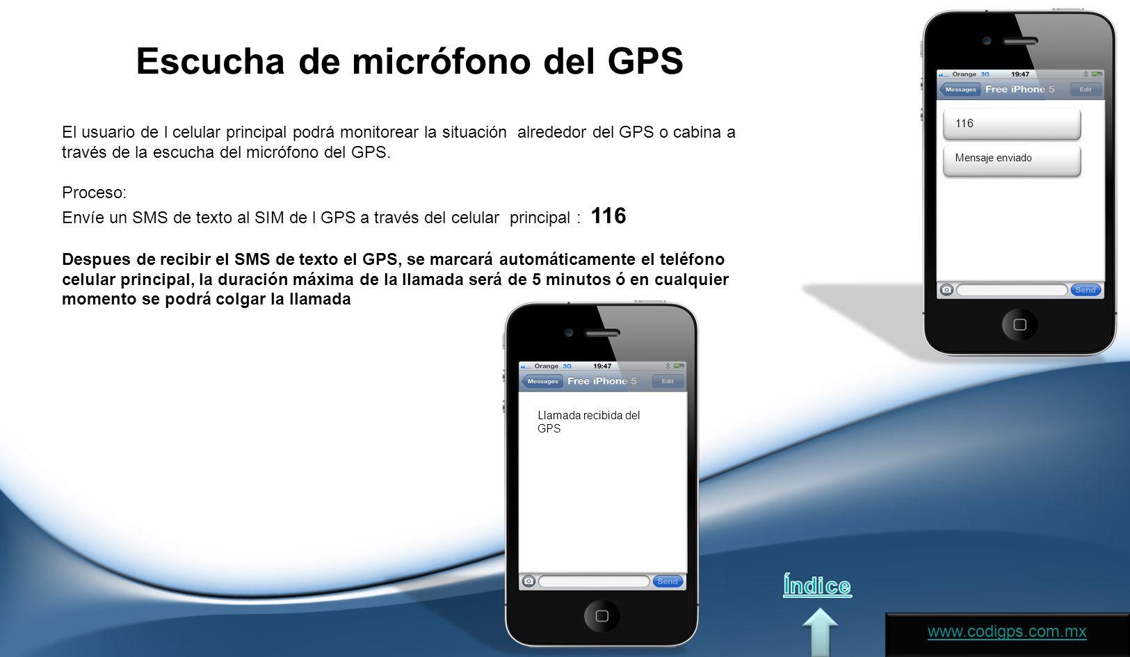 Escucha de micrófono del GPS