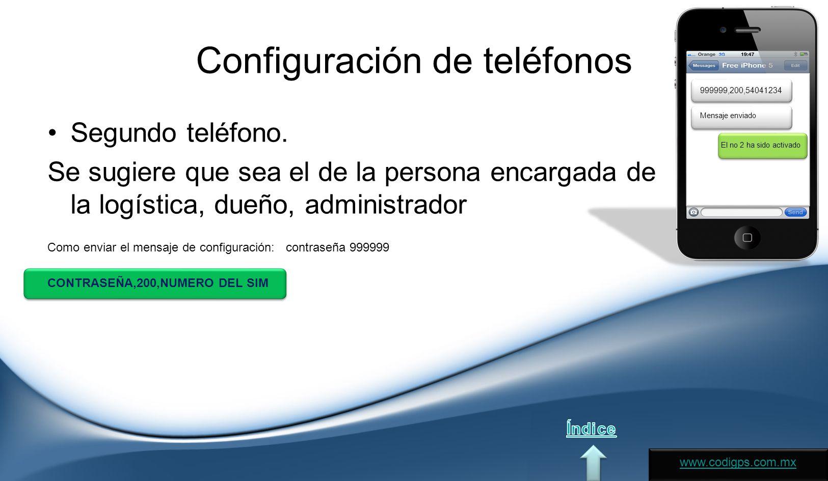 Configuración de teléfonos