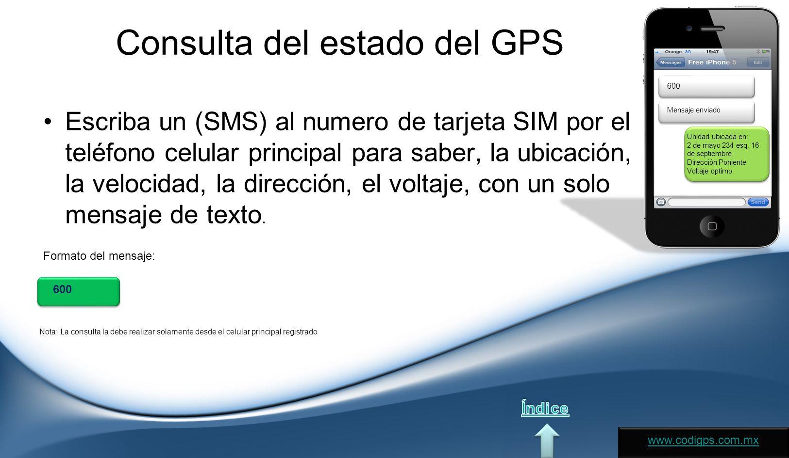 Consulta del estado del GPS