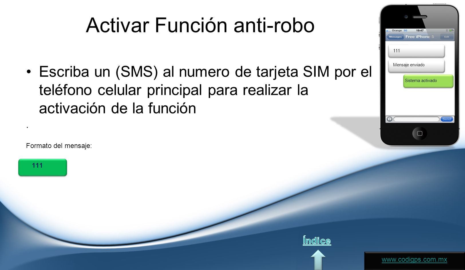 Activar Función anti-robo