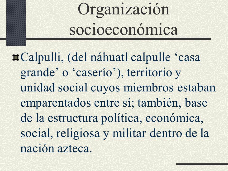 Organización socioeconómica