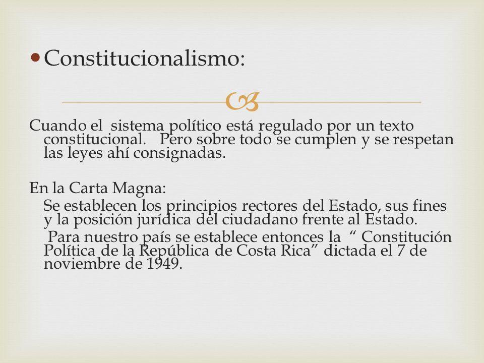 Constitucionalismo: