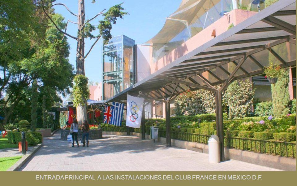 ENTRADA PRINCIPAL A LAS INSTALACIONES DEL CLUB FRANCE EN MEXICO D.F.