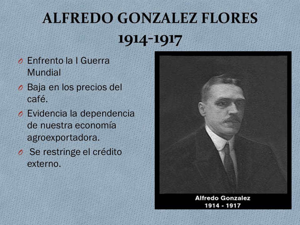 ALFREDO GONZALEZ FLORES 1914-1917