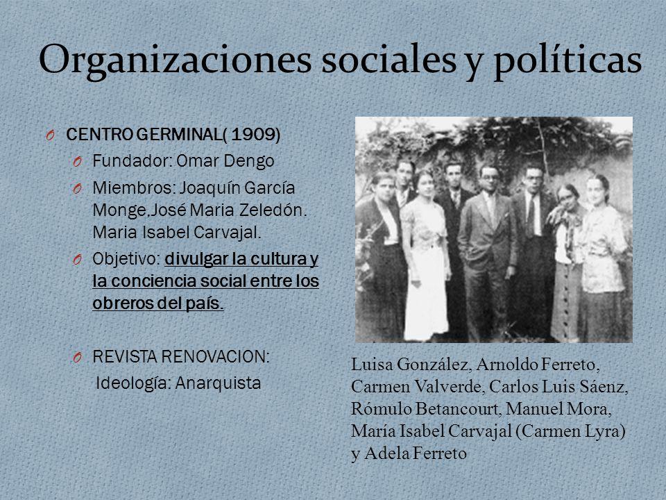 Organizaciones sociales y políticas