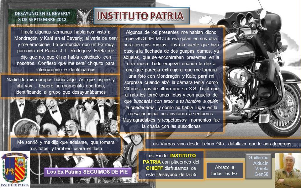INSTITUTO PATRIA DESAYUNO en el BEVERLY 8 DE SEPTIEMBRE 2012