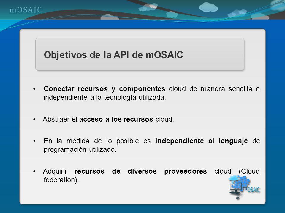 Objetivos de la API de mOSAIC