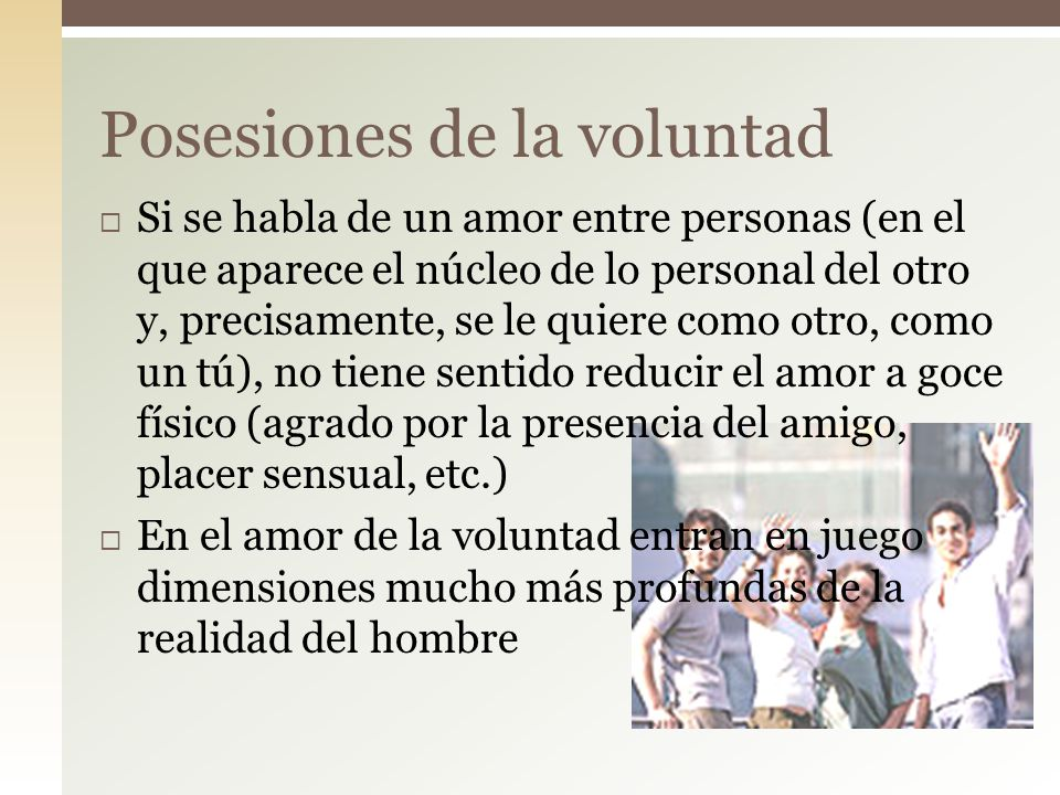 Posesiones de la voluntad