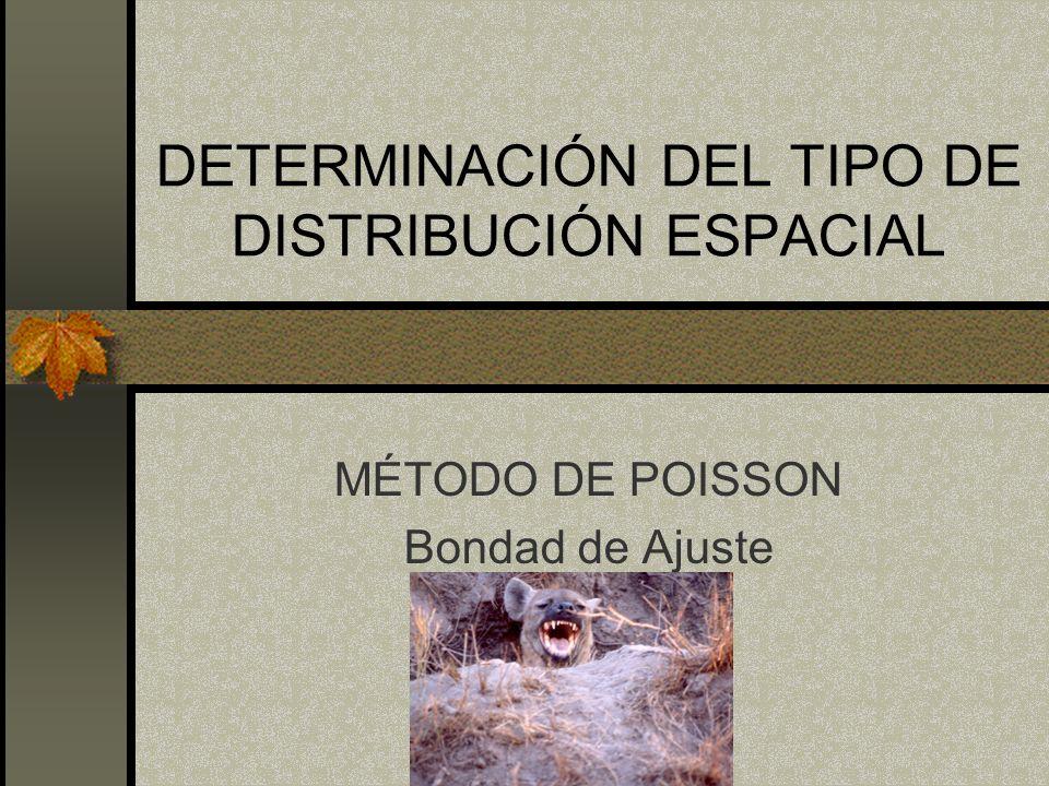 DETERMINACIÓN DEL TIPO DE DISTRIBUCIÓN ESPACIAL