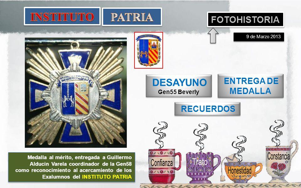 INSTITUTO PATRIA FOTOHISTORIA DESAYUNO ENTREGA DE MEDALLA