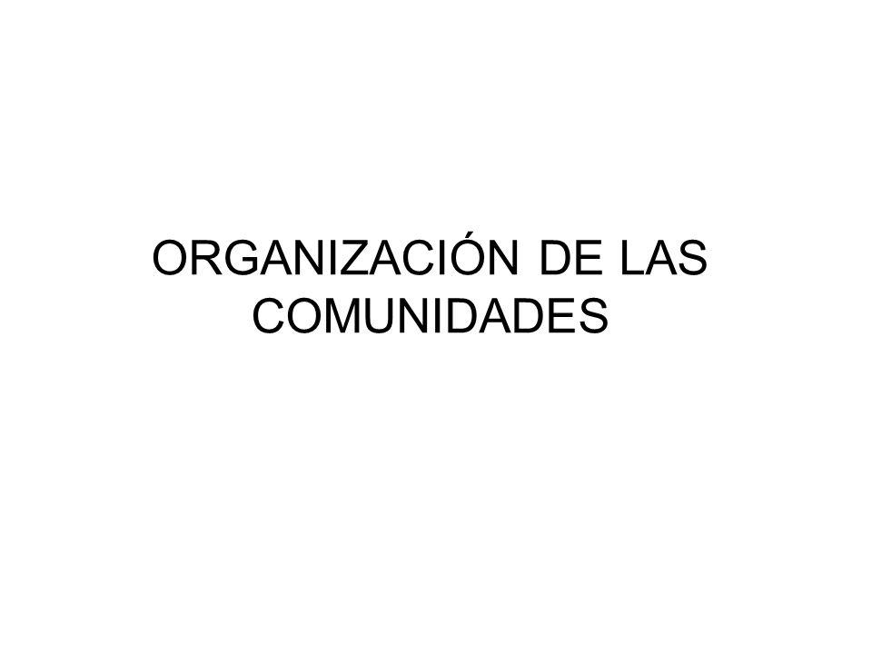 ORGANIZACIÓN DE LAS COMUNIDADES
