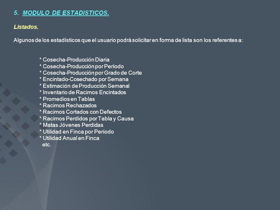 5. MODULO DE ESTADISTICOS.
