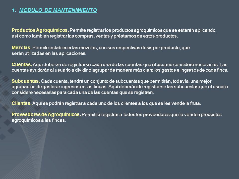 1. MODULO DE MANTENIMIENTO