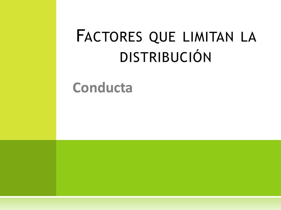 Factores que limitan la distribución