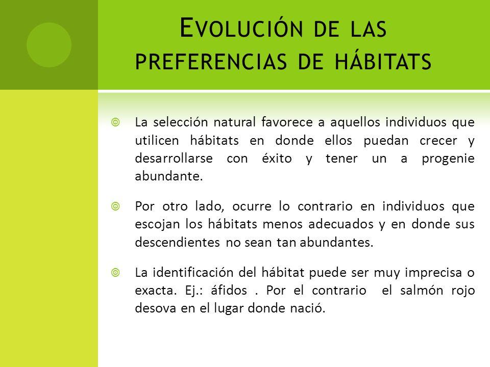 Evolución de las preferencias de hábitats