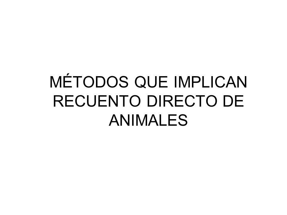 MÉTODOS QUE IMPLICAN RECUENTO DIRECTO DE ANIMALES