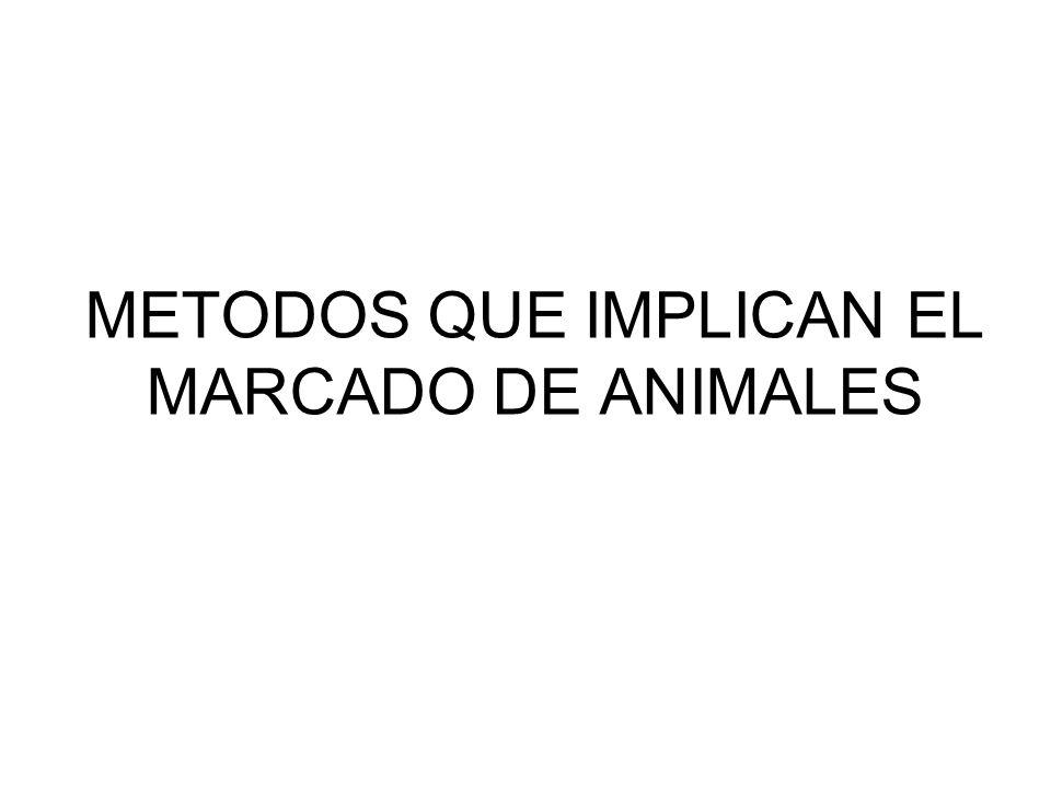 METODOS QUE IMPLICAN EL MARCADO DE ANIMALES