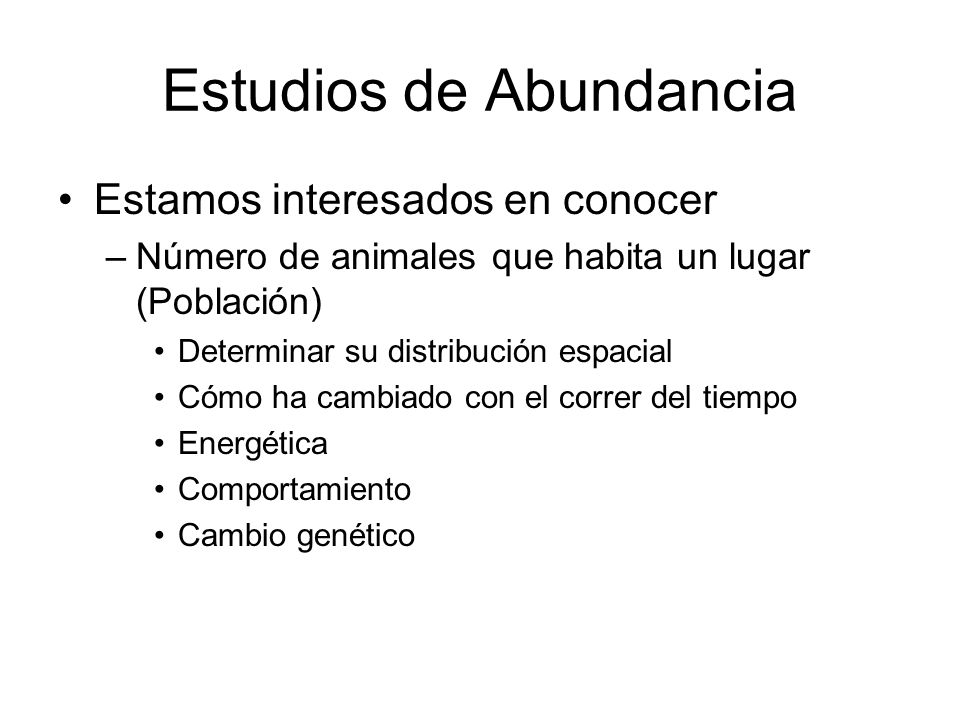 Estudios de Abundancia